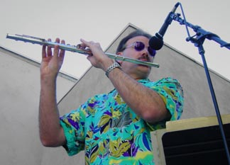 Photo of Dan playing Flute